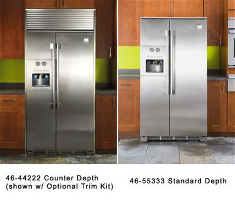 Standard Depth Of Countertops by Side By Side Refrigeration