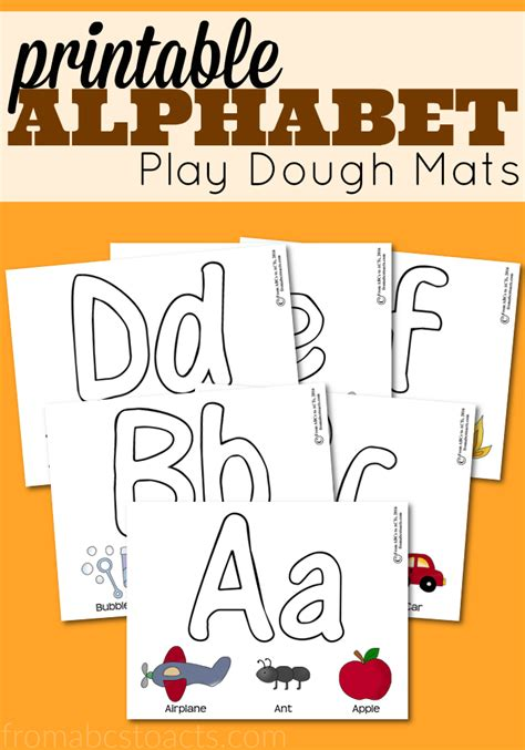 Playdough Letter Mats Printable