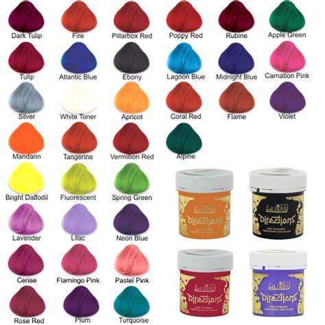color directions 4 x la riche directions semi permanent hair colour dye all