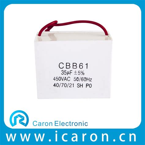 cbb61 ac motor capacitor 220 660v polypropylene capacitor air compressor fan motors from wenling caron electronic