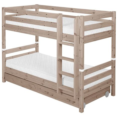 cot bunk beds flexa classic bunk bed w drawers