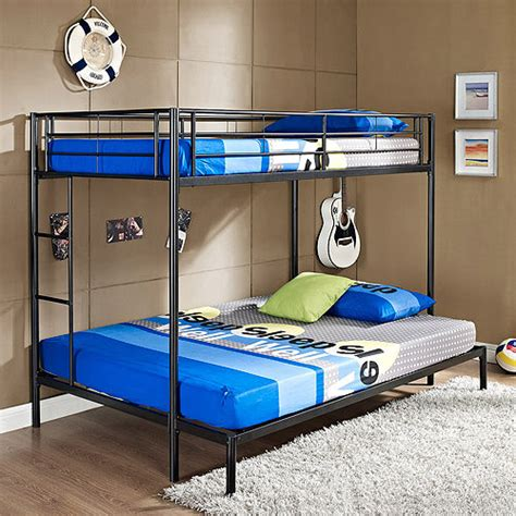 twin over full metal bunk bed twin over full metal bunk beds walmart com