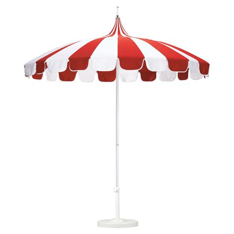 Pagoda Patio Umbrella California Umbrella Pagoda 8 5 Ft Striped Sunbrella Patio