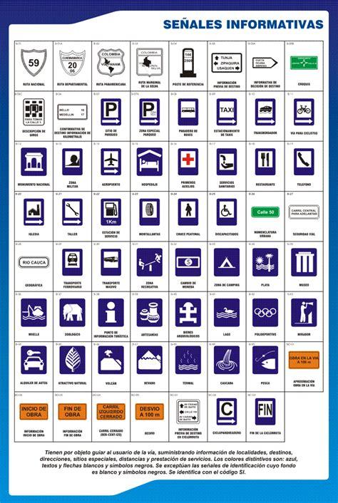 imagenes de simbolos informativos se 241 ales de transito mundonets