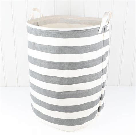 Nautical Striped Freestanding Laundry Bag By Dibor Nautical Laundry