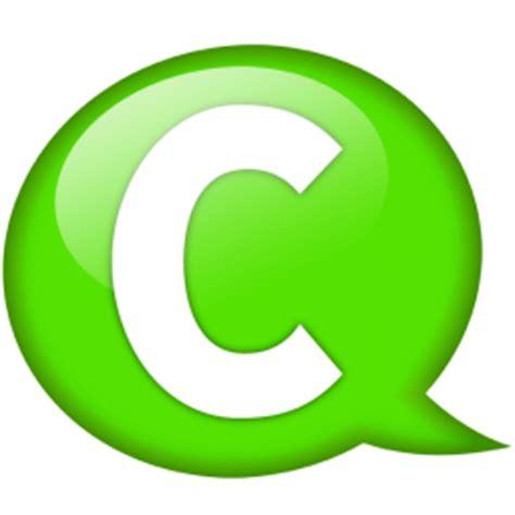 c green speech balloon green c icon speech balloon green iconset iconexpo