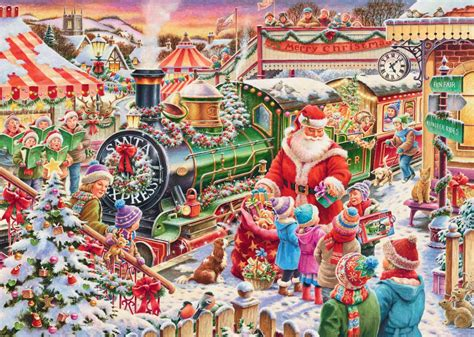 ravensburger santa express 1000 piece jigsaw puzzle
