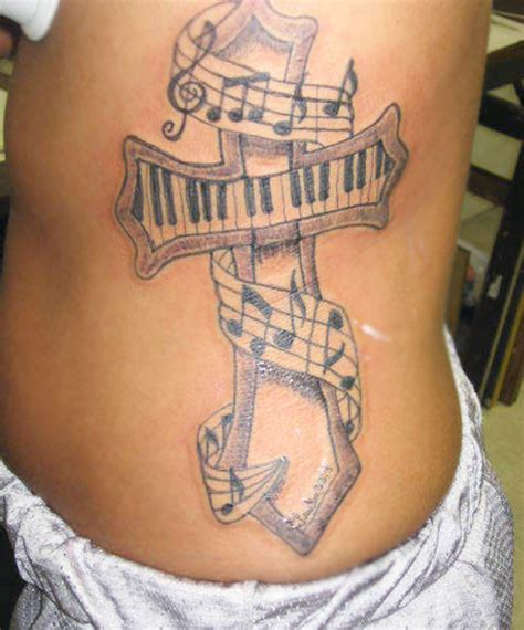 house music tattoo designs cross and music note tattoo design sheplanet
