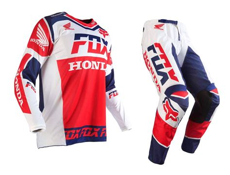 honda motocross gear fox racing new 2016 mx 180 honda usa white red blue