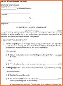 divorce settlement agreement template 3 divorce settlement agreement sle marital