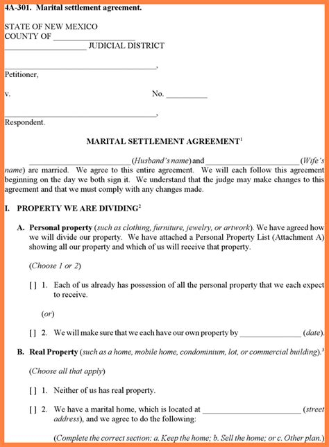 Divorce Settlement Property Letter Sle 100 Prenuptial Agreement Template Prenuptial