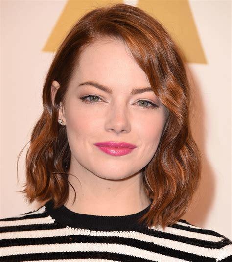 Emma Stone?s Hot Pink Lipstick   Vogue