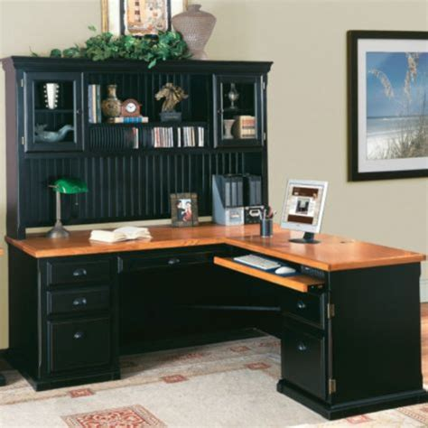 Desk With Return And Hutch Southton Onyx L Desk W Right Return Hutch Officefurniture