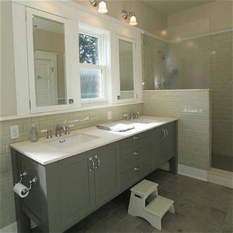 beige subway tile bathroom gray floor tile design decor photos pictures ideas