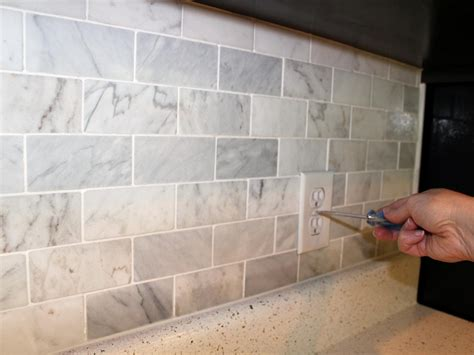 marble kitchen backsplash how to install a marble tile backsplash hgtv