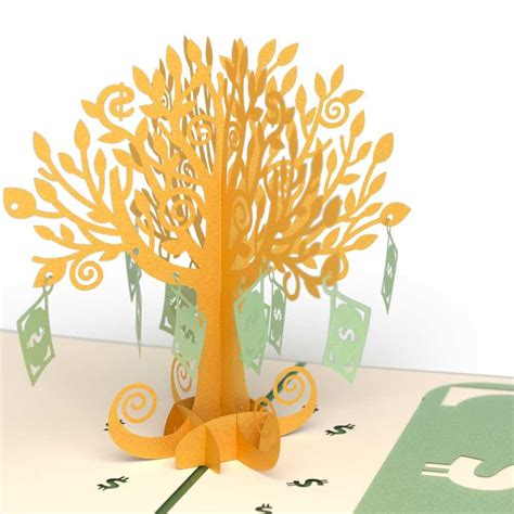 3d pop up card tree template money tree pop up birthday card lovepop