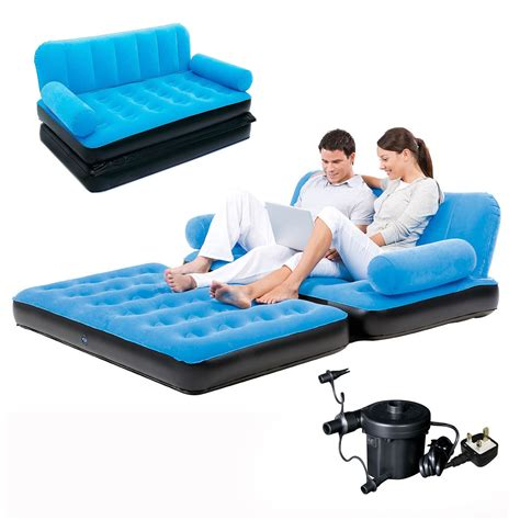 inflatable couch bed inflatable double sofa air bed couch blow up mattress with