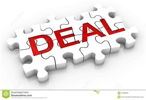 world deal jigsaw puzzle deal word royalty free stock photo image
