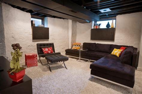 diy basement living room 20 awesome basement living spaces