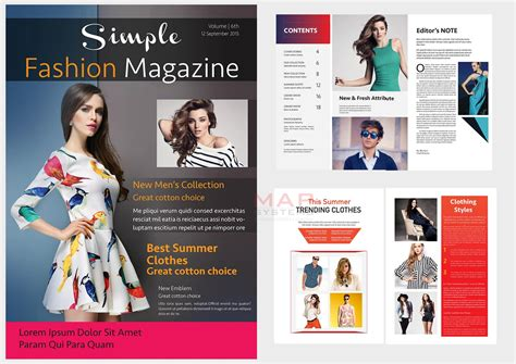 design magazine clothing fashion magazine layout design artconnect