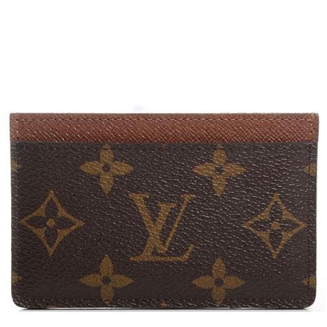 Louis Vuitton Lv Monogram Coklat Tempat Card Holder Pocket Chocolate louis vuitton monogram card holder 90615
