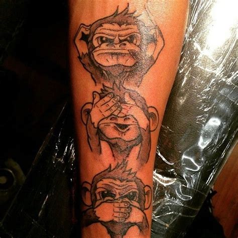 monkey tattoo meaning 28 hear no evil see no evil speak no evil tattoos with