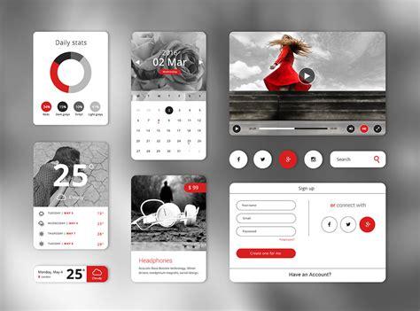 ui layout plugin download free widget style clean ui kit free psd at
