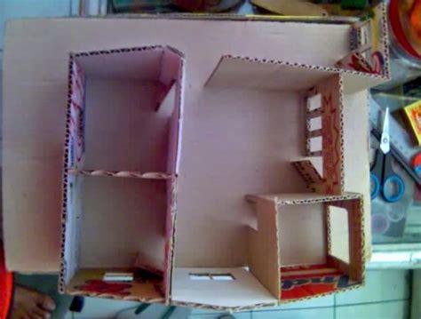membuat atap rumah dari kardus cara membuat miniatur rumah dari kardus sisa