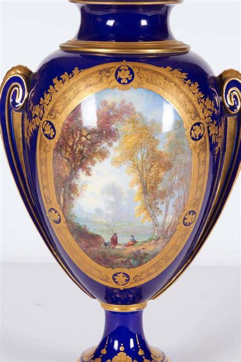 Humm3r Napoleon Blue a pair of 19th c napoleon iii sevres porcelain