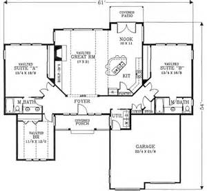 monster with 2 master suites floor plans trend home one story house plans with two master suites pictures to