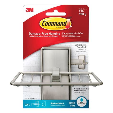 command strip bathroom command satin nickel soap dish 1 soap dish 2 water