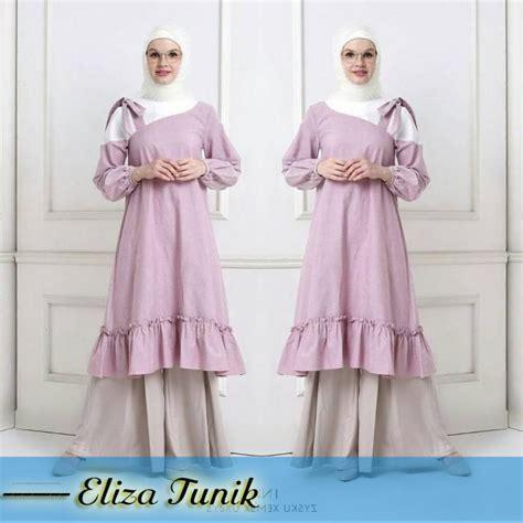 Baju Tunik 2 baju muslim terbaru eliza tunik grosir baju muslim
