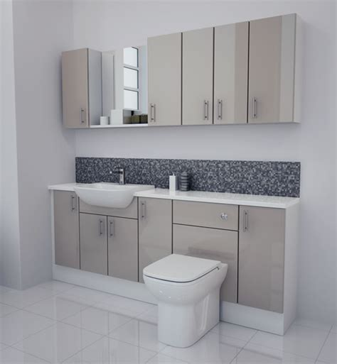 Fitted Bathroom Furniture Units Bathcabz Bathroom Fitted Furniture Products Fitted Furniture 2000mm Latte Gloss