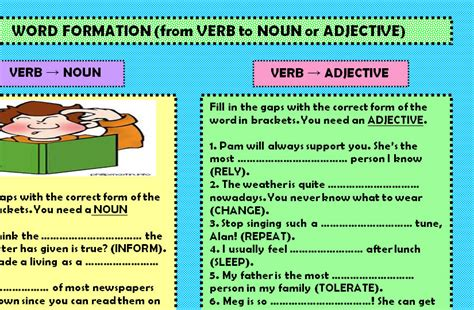 is layout a verb or noun 100 worksheets on verbs nouns and adjectives