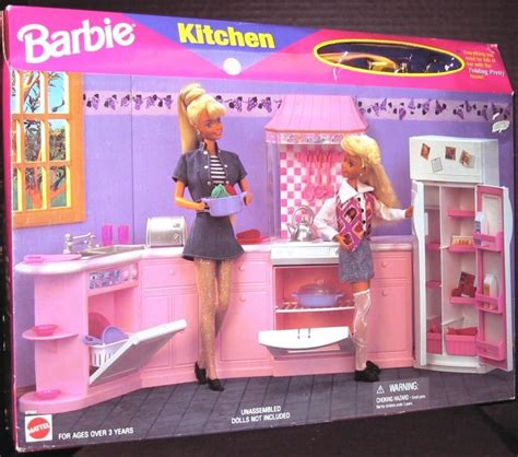 Barbie Kitchen Furniture barbie kitchen folding pretty playset new 163 92 32