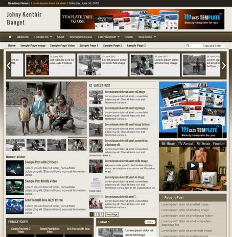 templates blogger magazine vbw news