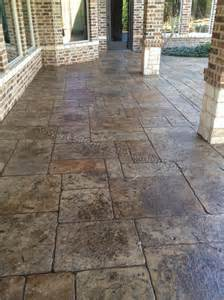 Stamped Concrete Over Existing Patio by Deck Concrete Stamped Concrete Overlay Pool Deck Stamped