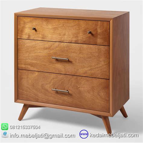 design nakas minimalis nakas model minimalis seri scandi 3 laci bahan kayu jati