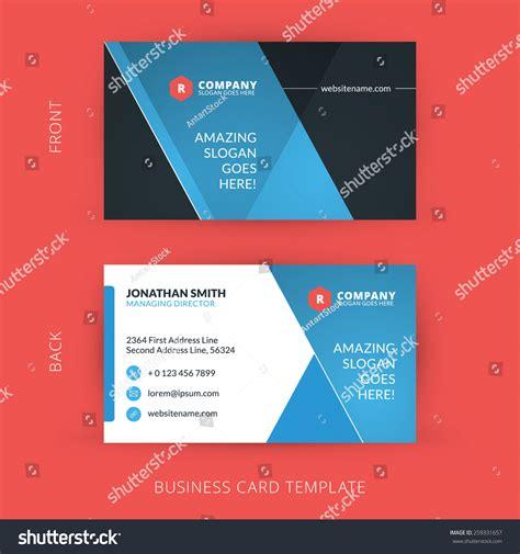 flat design business card template vector modern creative and clean business card template