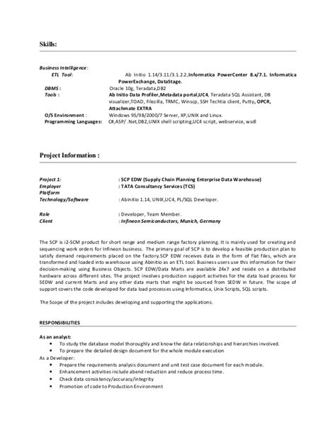 hadoop resume for 3 years experience 28 images sle