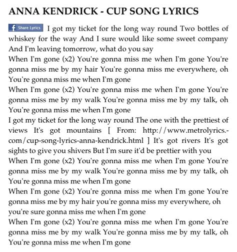 cups song testo 11 best images about the cup song on keep calm