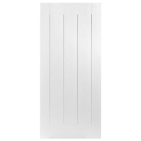 Single Panel Interior Doors Masonite 36 In X 80 In Saddlebrook Smooth 1 Panel Plank Hollow Primed Composite Single