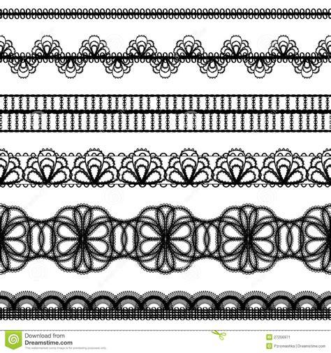 borders design elements vector lace borders design elements stock vector illustration