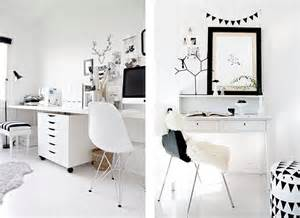 white desk for room minimalist office minimalist work space black and white