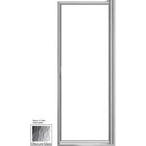 basco shower doors reviews shop basco 24 25 in to 26 in framed pivot shower door at