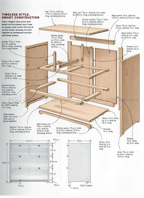 chest woodworking plans small chest of drawers plans woodarchivist