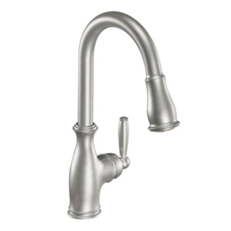 moen ca87559csl classic stainless single handle pullout moen brantford single handle pull down kitchen faucet