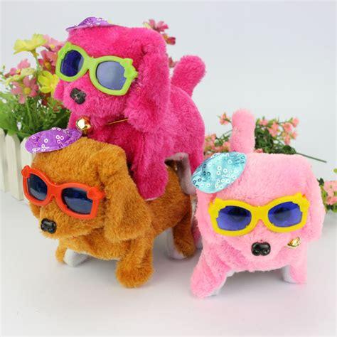 With Bell Plush Boneka Anjing children educational electric mainan boneka anjing orange jakartanotebook