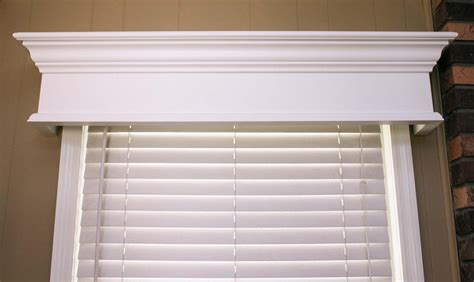 Wood Cornice Box Custom Window Cornice