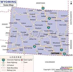 map od colorado wyoming state map